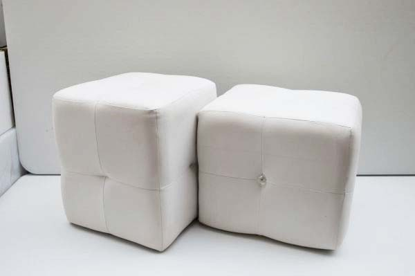 Pouf in eco pelle con...